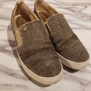 Gold Mesh Michael Kors Catelyn Slip on Sneaker